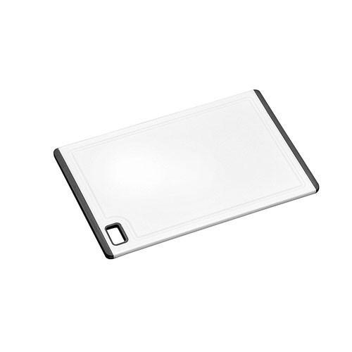 Kunststoff Schneidebrett mit Rutsch-Stopp 30x20x0,9cm weiß Bild 1