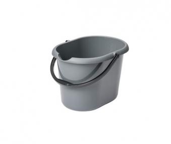 Kunststoffeimer / Putzeimer 13 Liter oval mit Ausguss Bild 1