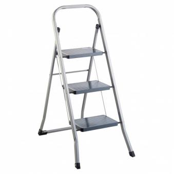 Leiter / Klapptritt 3 Stufen Stahl Bild 1