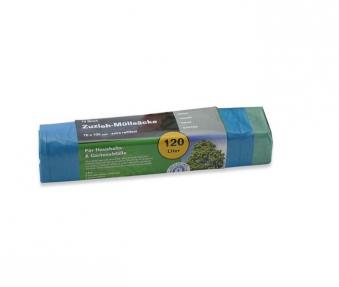 Müllsack / Abfallsack mit Zugband Noor 70x100cm blau 120L Bild 1