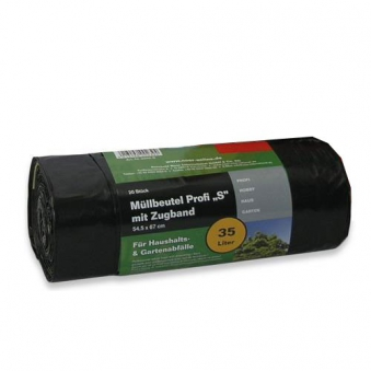 Müllsack / Müllbeutel Profi S Noor 54,5x67cm schwarz 35L Bild 1
