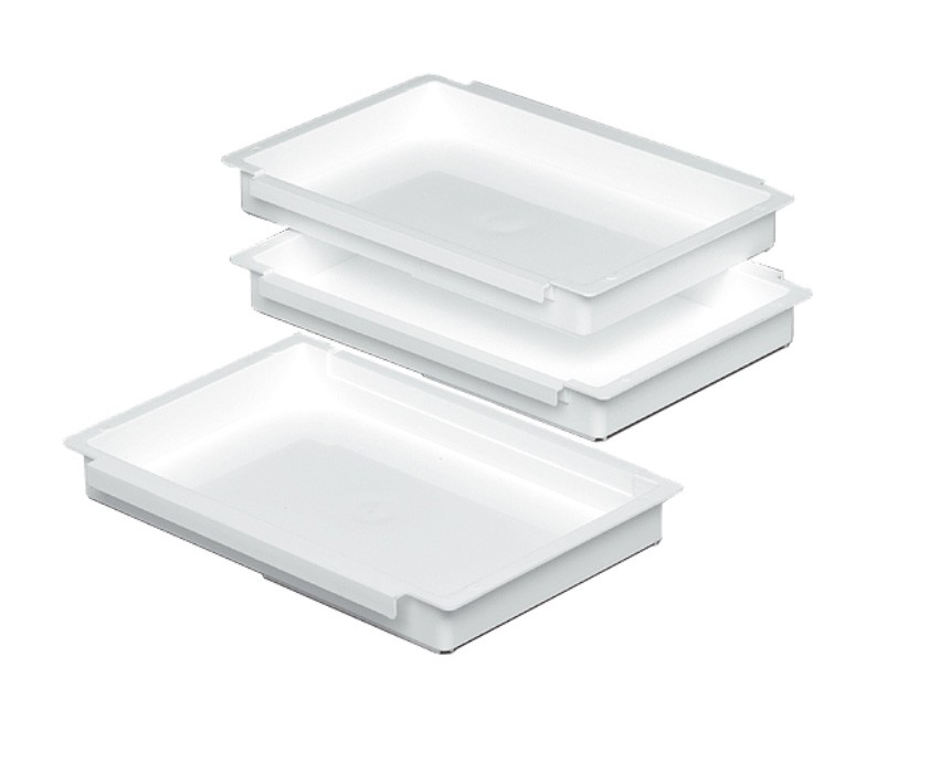 Panier-Set 3-teilig weiß 27x17x3,5cm Bild 1