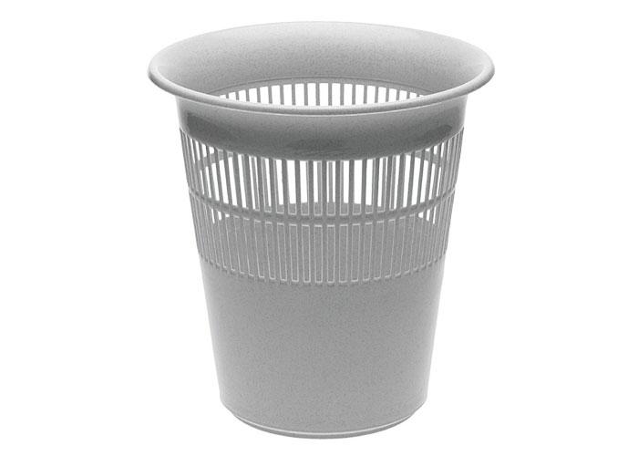 Papierkorb / Mülleimer keeeper Kunststoff Ø29cm weiß Bild 1