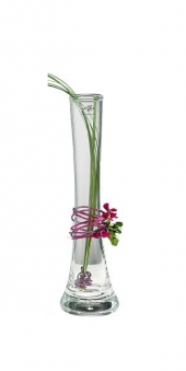 Sandra Rich Vase Solifleur Glas Ø 4cm H 26cm Bild 1