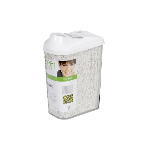 Vorratsdose / Schüttdose Kunststoff weiß 0,75L Bild 1