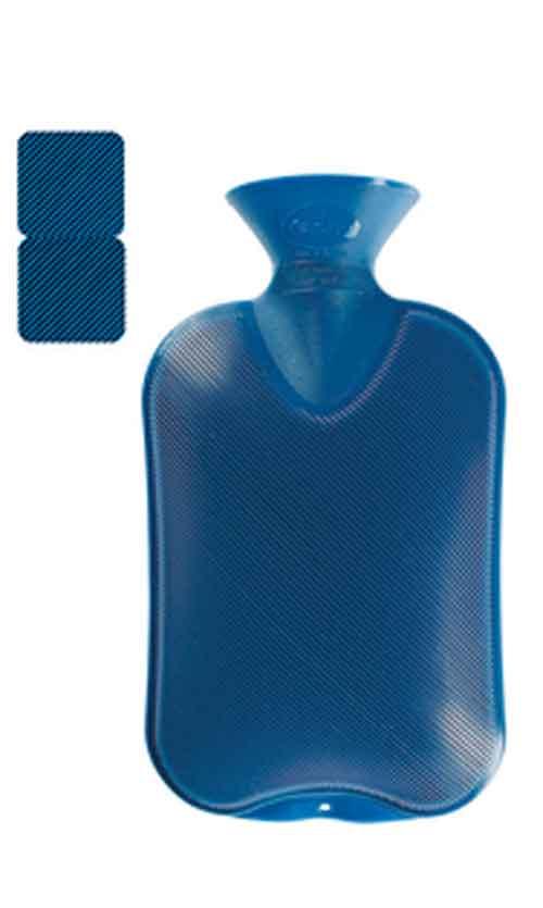 Wärmflasche Doppellamelle saphir 2Liter Bild 1