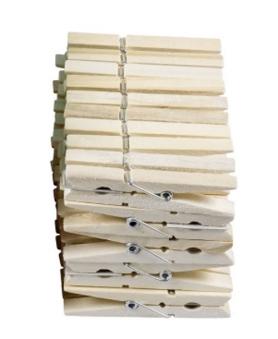 Wäscheklammern Holz 50 Stück Bild 1