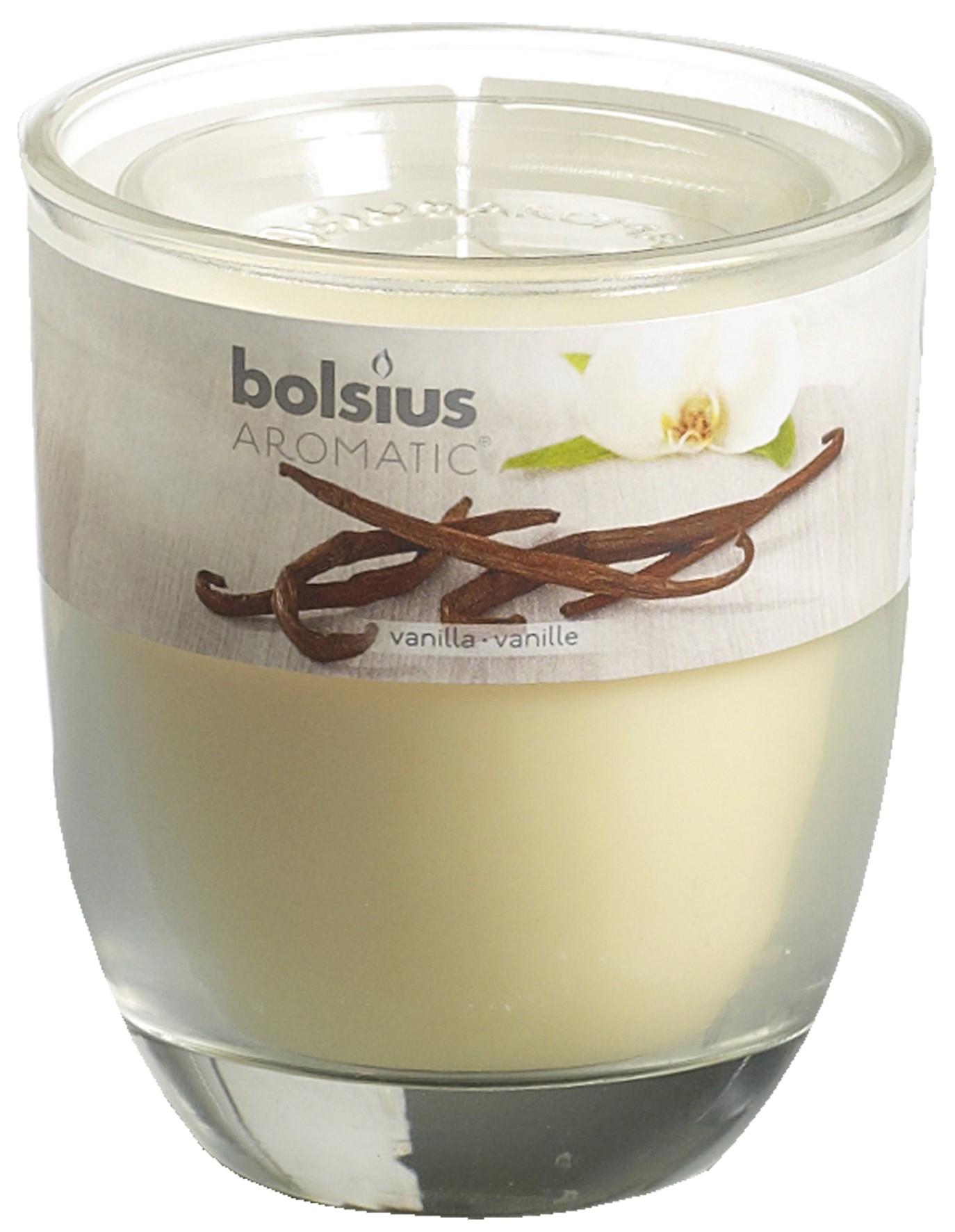 Bolsius Duftkerze Aromatic im Glas Vanille Bild 1