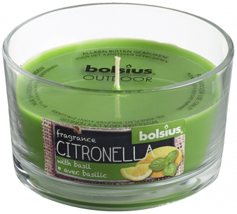 Bolsius Duftkerze / Duftglas Citronella Outdoor Basilikum Bild 1