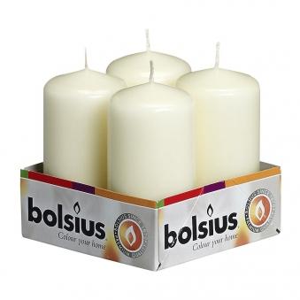 Bolsius Stumpenkerze elfenbein Ø 50 mm Höhe 100 mm 4 Stück Bild 1