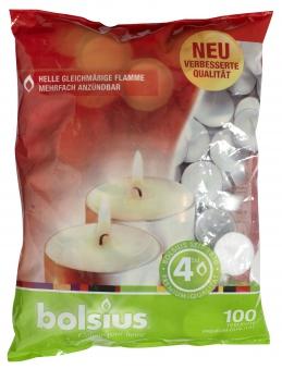 Bolsius Teelichter 100 Stück weiß Bild 1