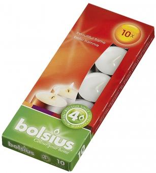 Bolsius Teelichter 10er Box weiß Bild 1