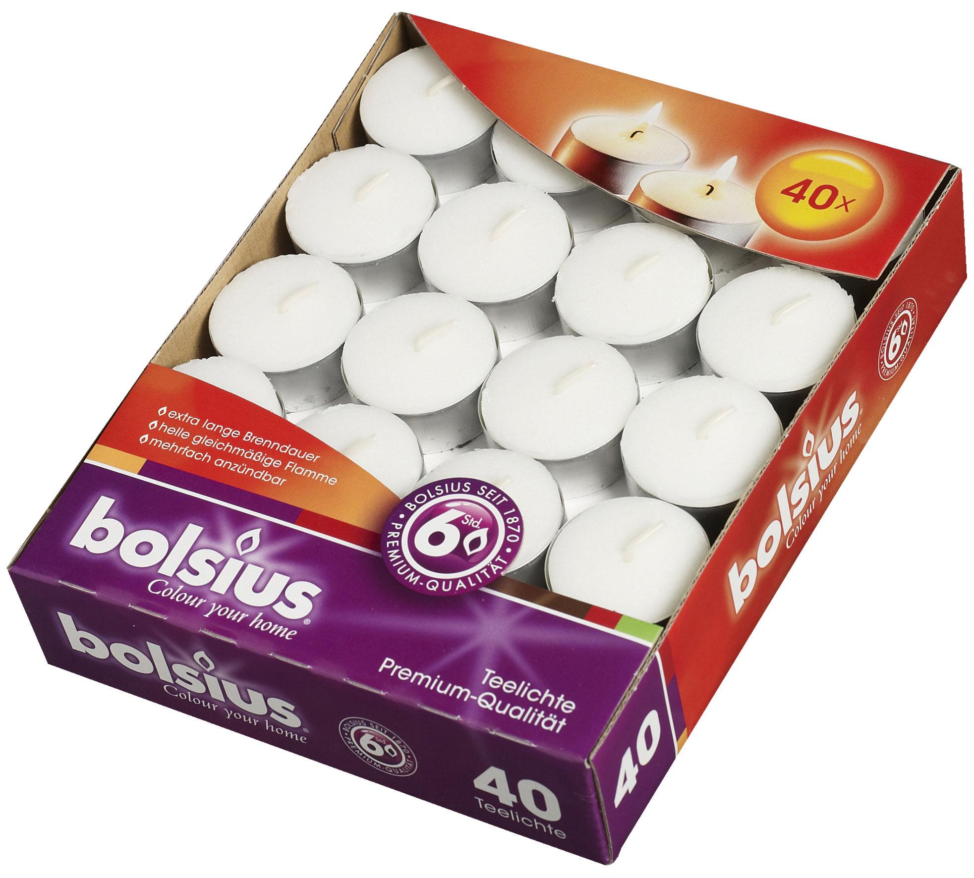 Bolsius Teelichter 40er Box weiß Bild 1