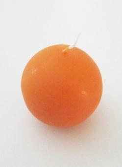 Eika Kugelkerze Ø 70mm orange Bild 1