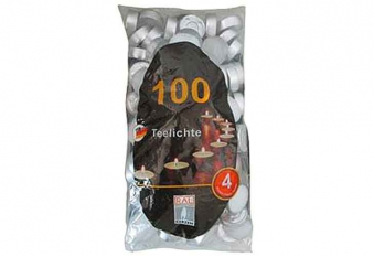 Teelichter 100 Stück weiß Bild 1