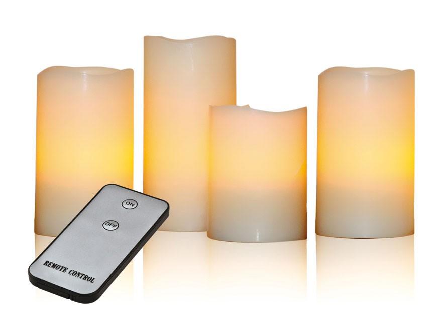 X4-LIFE LED Echtwachskerzen 4er Set inkl. Fernbedienung Bild 1