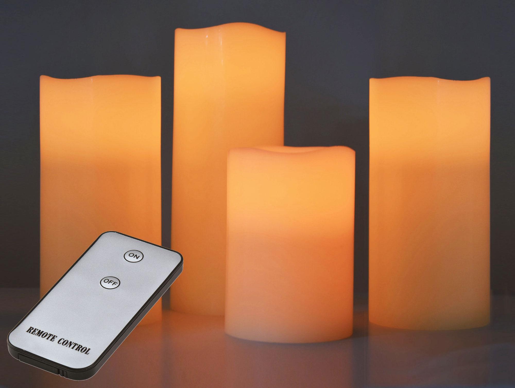 X4-LIFE LED Echtwachskerzen 4er Set inkl. Fernbedienung Bild 2