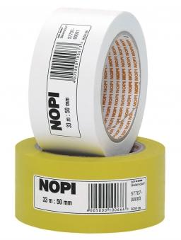 NOPI® Abdeckband / Malerband weiß 50 mm x 33 m Bild 1