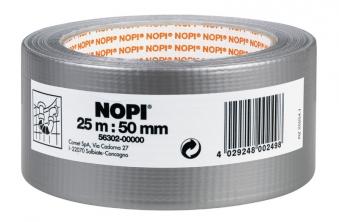 NOPI® Gewebeband / Reparaturband silber 50 mm x 25 m Bild 1