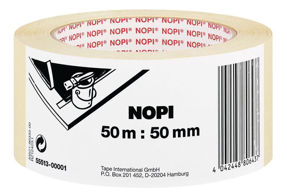 NOPI® Klebeband / Malerkrepp 50mmx50m Set 6 Rollen Bild 1
