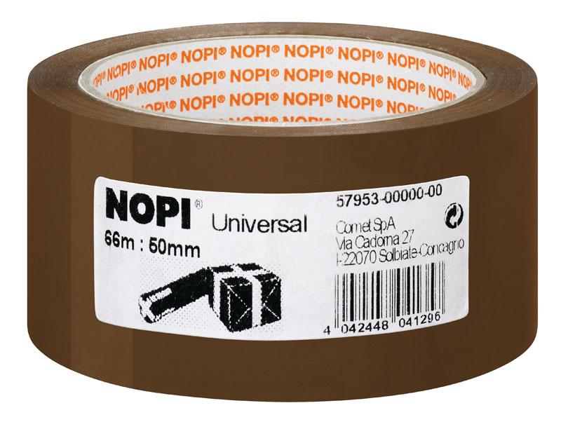 NOPI® Verpackungsklebeband Universal braun 50 mm x 66 m Bild 1