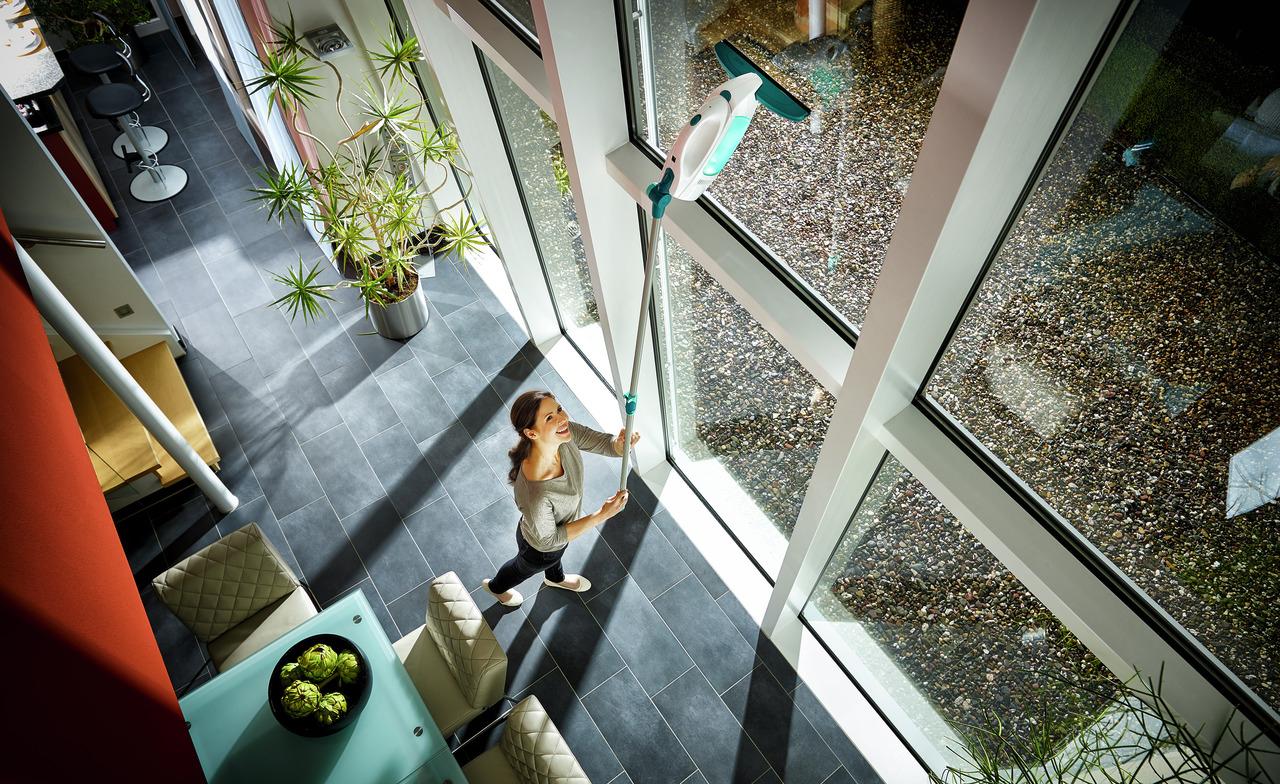 Leifheit Fenstersauger Dry & Clean inkl. Stiel und Einwascher Bild 3