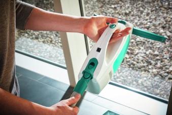 Leifheit Fenstersauger Dry & Clean inkl. Stiel und Einwascher Bild 2