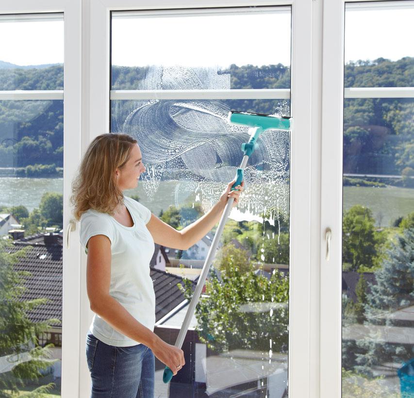 Leifheit Fensterwischer 3 in 1 mit Teleskopstiel Bild 4