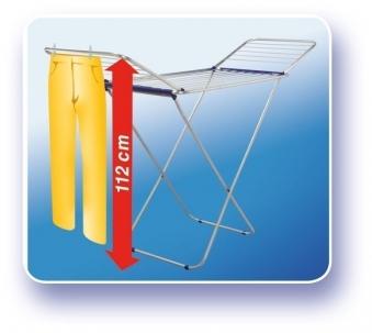 Leifheit Wäscheständer / Flügeltrockner Siena 180 Aluminium Bild 4