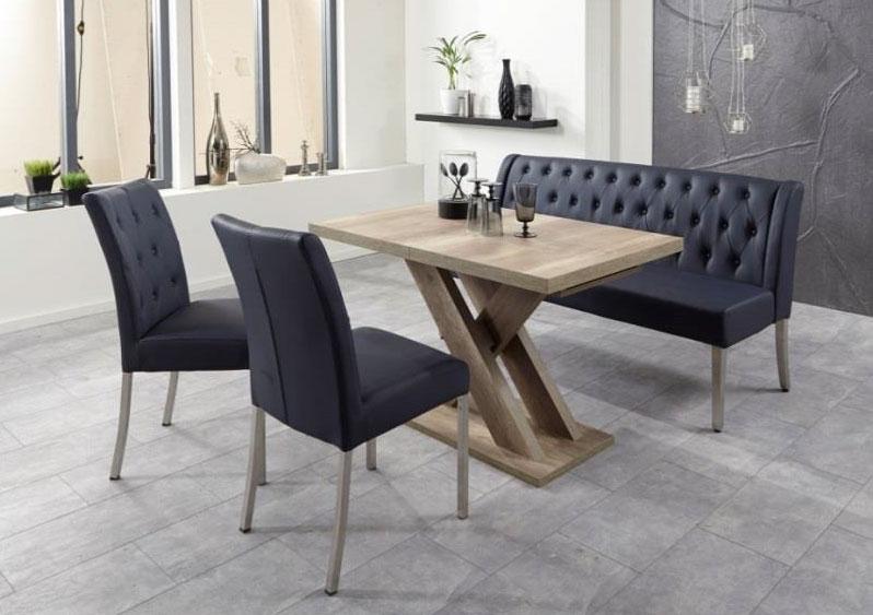 Sitzgruppe / Essgruppe Manchester dunkelblau Variante A Bild 1