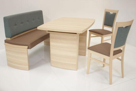 Sitzgruppe / Essgruppe Nora Variante A Bank + Tisch + 2 Stühle Bild 1