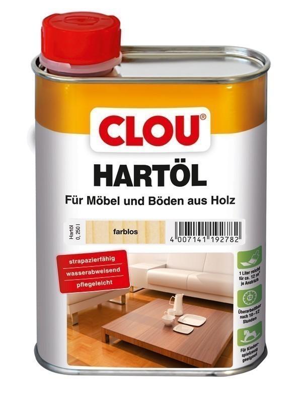 Holzöl CLOU Hartöl für Möbel und Böden aus Holz farblos 250 ml Bild 1