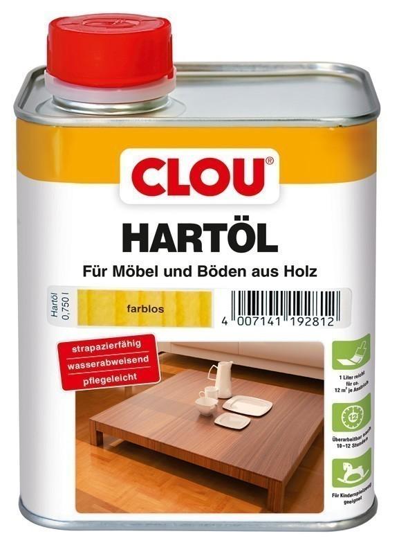 Holzöl CLOU Hartöl für Möbel und Böden aus Holz farblos 750 ml Bild 1