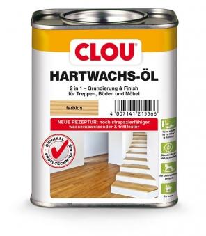 Holzöl/-wachs CLOU Hartwachs-Öl für Holzböden und Möbel farblos 750 ml Bild 1