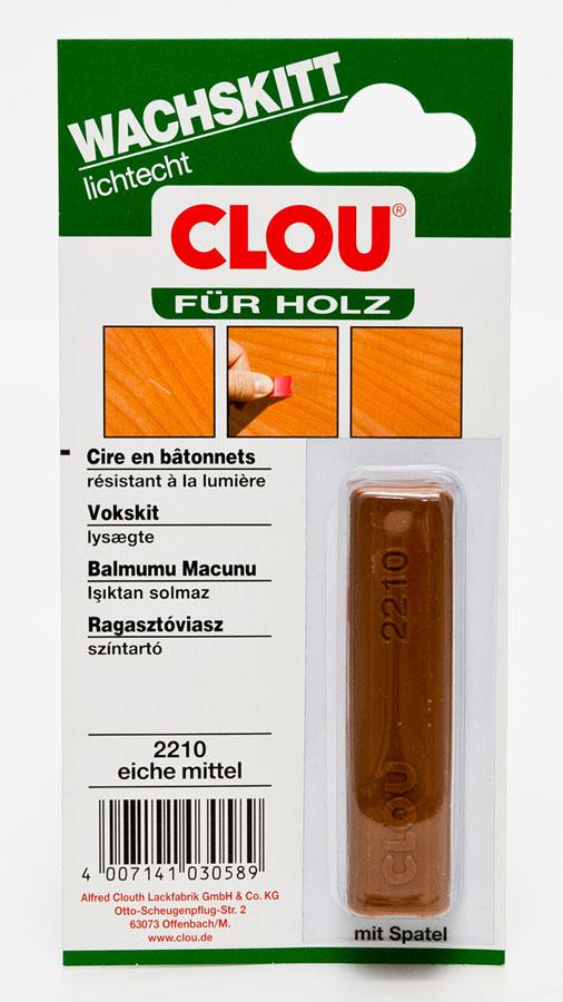 Holz Wachskitt CLOU Eiche mittel Bild 1