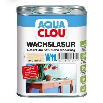 Holz Wachslasur AQUA CLOU farblos 750 ml Bild 1