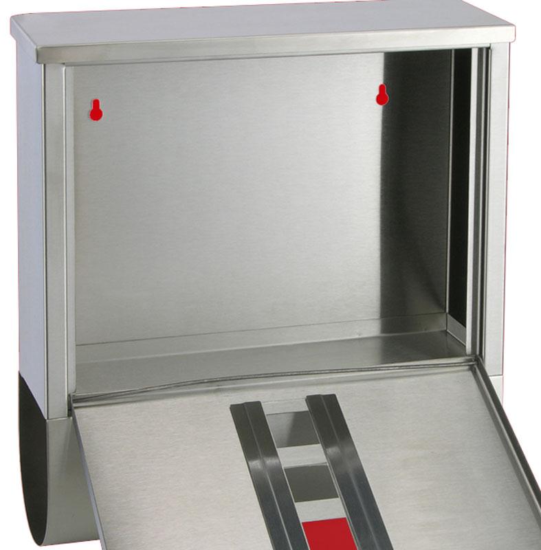 B-Ware Briefkasten mit Zeitungsfach und Namenschild Edelstahl Bild 4