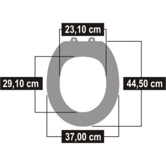 Cornat WC-Sitz / Toilettendeckel Universal Safe weiß Bild 3