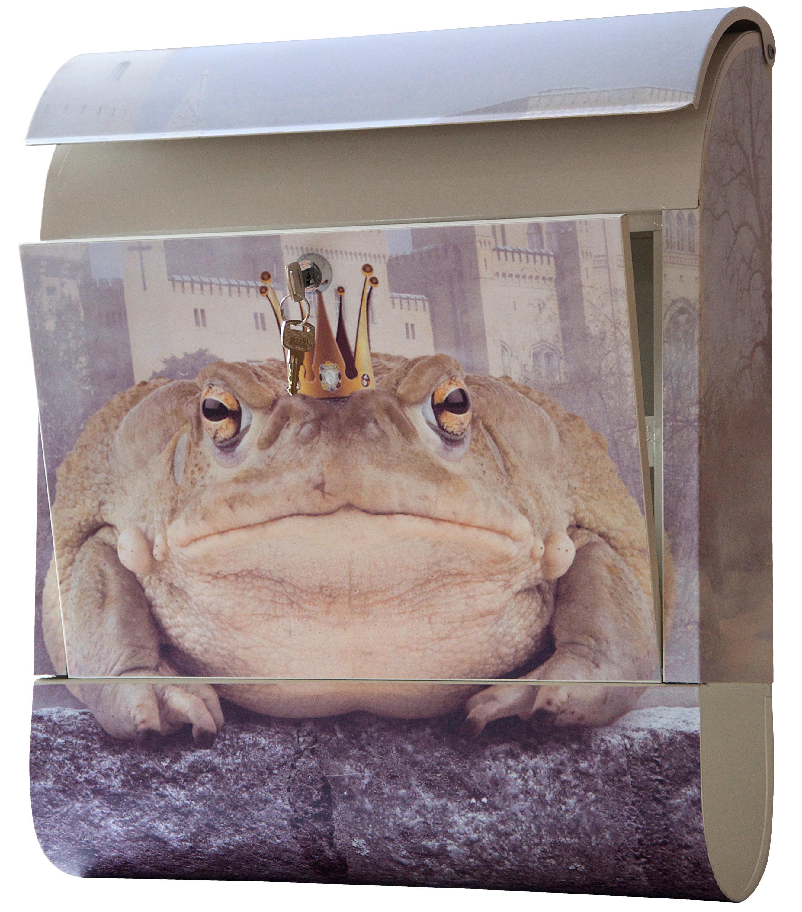 Designbriefkasten / Briefkasten Froschkönig  mit Ton Bild 1
