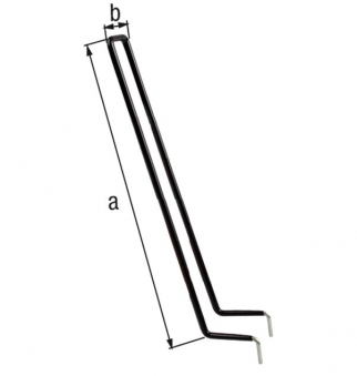 GAH Alberts Sportgerätehalter / Haken für Schuhe und Stiefel 34x4,5cm Bild 2