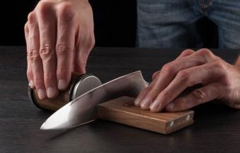 HORL Messerschärfer / Rollschleifer und Magnetschleiflehre  Eiche Bild 2