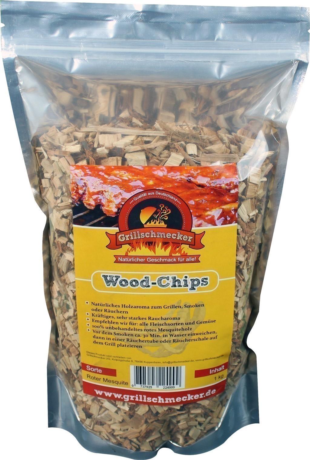 Räucherholz Wood-Chips roter Mesquite 1kg Bild 1