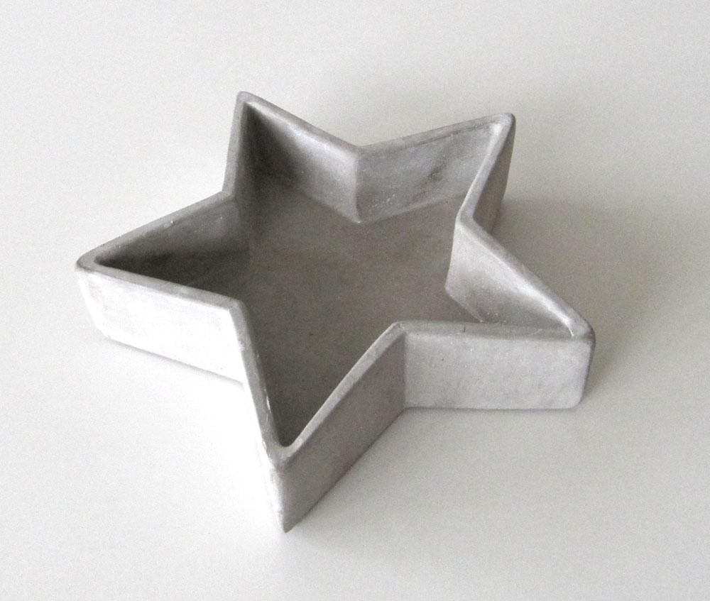 Schale Stern Beton 25cm Bild 1