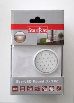 StarLicht StarLED Round / Schrankleuchte 3x1W je 19 LED`s Licht blau Bild 1