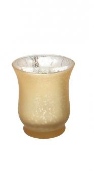 Teelichtbecher Glas verspiegelt Ø 7,5cm gold Bild 1