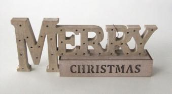 Weihnachtsdeko Holz Merry Christmas Bild 1