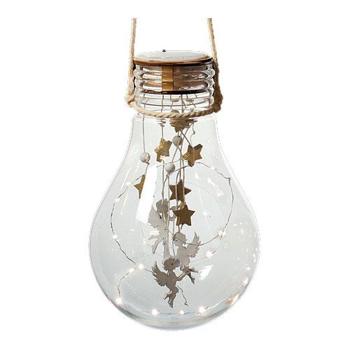 Weihnachtsdeko LED Glühbirne mit Behang batteriebetrieben Bild 2