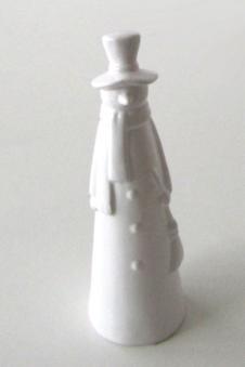 Weihnachtsdeko Schneemann aus Keramik weiß 30cm Bild 1