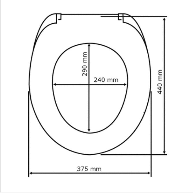 Wenko WC-Sitz Tundra Duroplast mit Absenkautomatik Bild 3