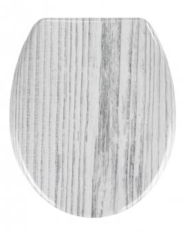 Wenko WC-Sitz Tundra Duroplast mit Absenkautomatik Bild 1